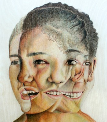 Maddie 18 x 24 Pencil on Wood